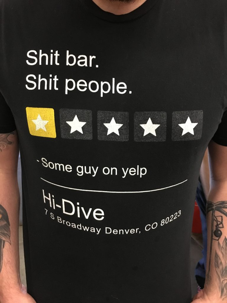 Negative review t-shirt